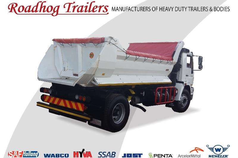 Roadhog End tipping 6 Cube Tipper Trailers