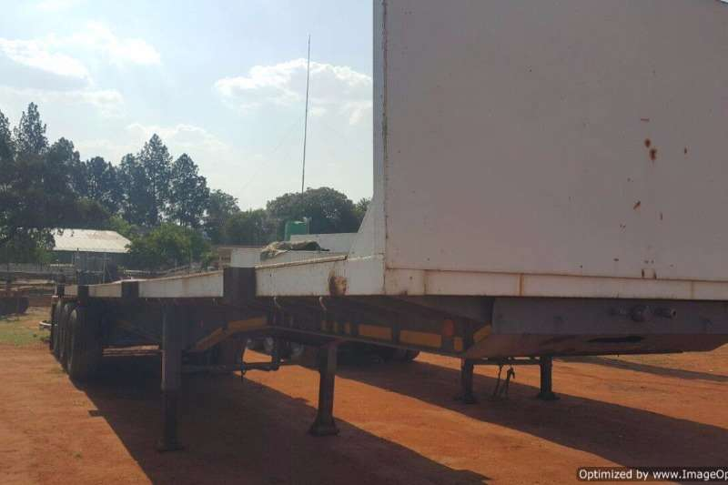 Top Trailer Double Axle Flat deck 14 m Tri Axle Trailers