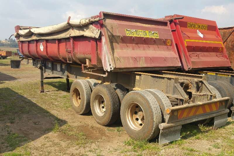 Top Trailer End tipping Sliding bin end tipper Trailers