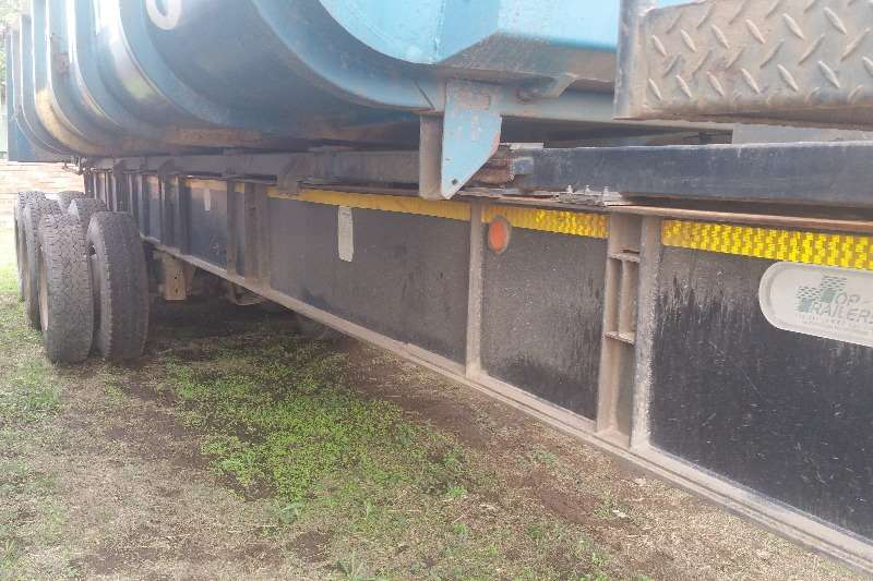 Top Trailer End tipping Sliding bin end tipper 25m3 Trailers