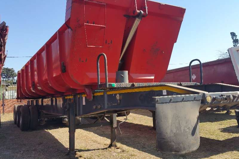 Top Trailer End tipping Slidning bin tipper Trailers
