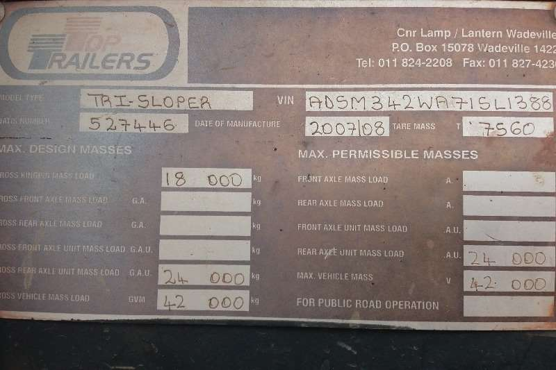 Top Trailer Slope deck 36 cub Trailers