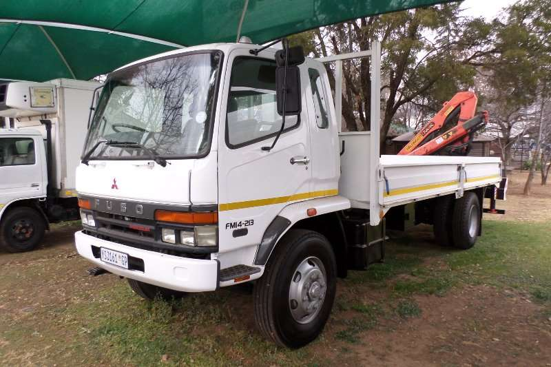 Fuso 14 213 Dropside with Crane Truck