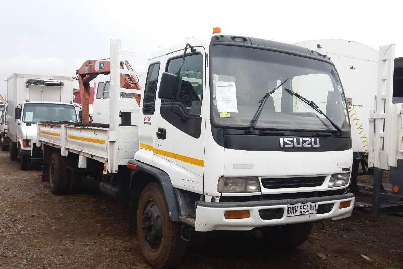 Truck Isuzu Crane Truck Isuzu 800 Turbo Drop side 1998