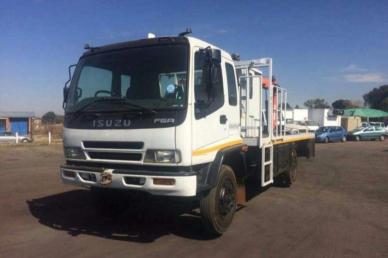 Isuzu Flat deck FSR 700 RAILWAY TRUCK WITH CRANE Truck
