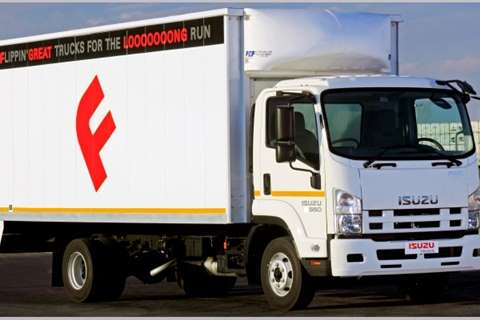 Isuzu Van body FRR 550 Truck