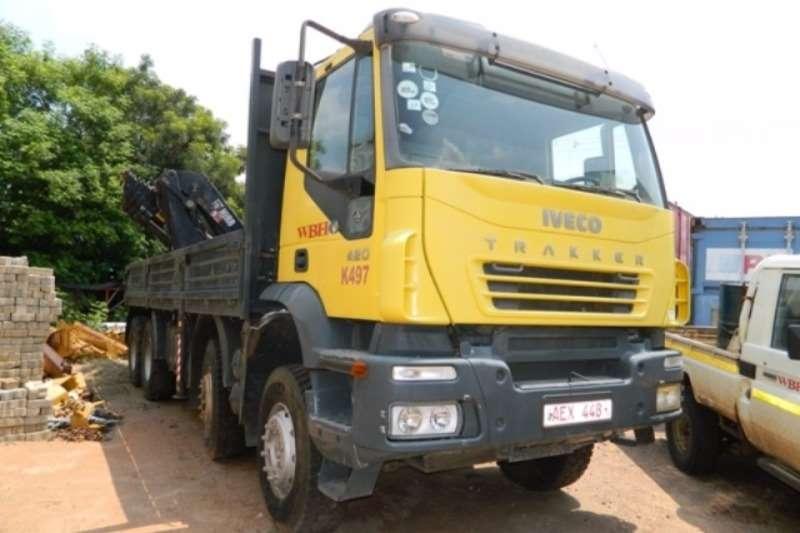 Iveco Crane truck Iveco Trakker 420 Stralis 8x4 Twin Steer Dropside  Truck