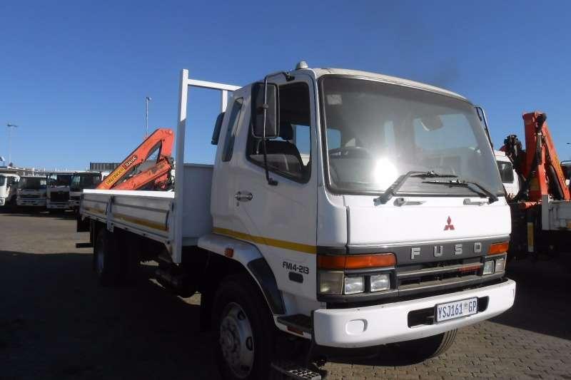 Mitsubishi Crane truck FUSO FM 14-213 DROPSIDE WITH PK8500 CRANE Truck