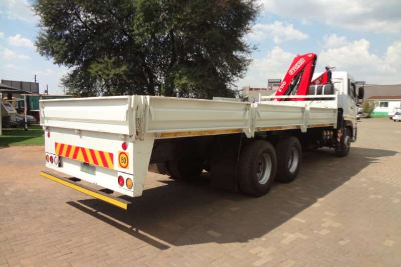 Nissan Crane truck UD460 with Dropside Body and Fassi F170 Crane Truck