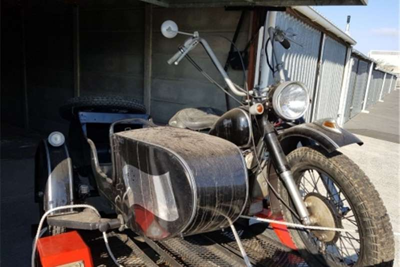 BMW motorcycle with sidecart as used in WW 2 0