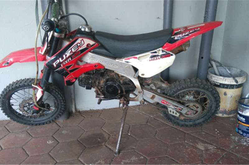Puzey off road motorcycle with 2 x helmets  goggle's and 0