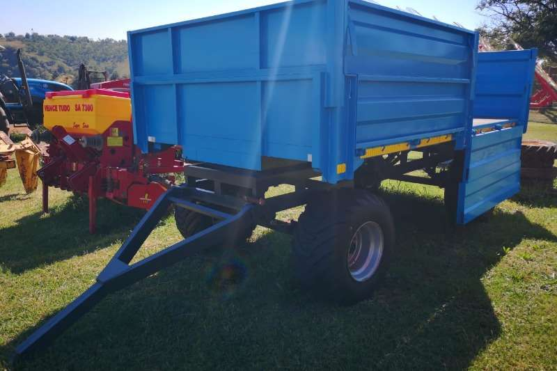 Agricultural Trailers Carts and Wagons 8 Ton 4 Wheel Trailer with Dropsides