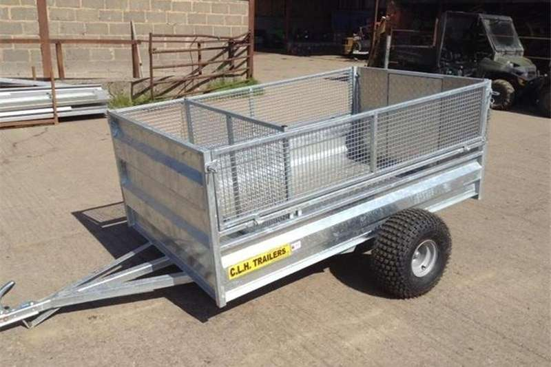Agricultural Trailers Cattle Trailers CLH ATV LIVESTOCK TRAILER 7'x4' Drop Mesh Side ATV