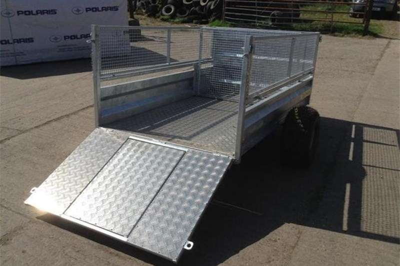 Cattle trailers CLH ATV LIVESTOCK TRAILER 7'x4' Drop Mesh Side ATV Agricultural trailers
