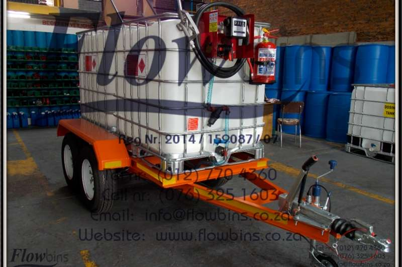Diesel trailers Gauteng: 1000L Diesel Bowser Trailers 12V   Heavy Agricultural trailers