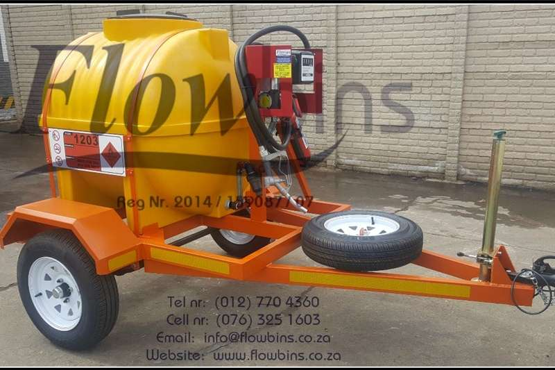 Diesel trailers Gauteng: NEW 600L Diesel Bowser Trailers 12V with Agricultural trailers