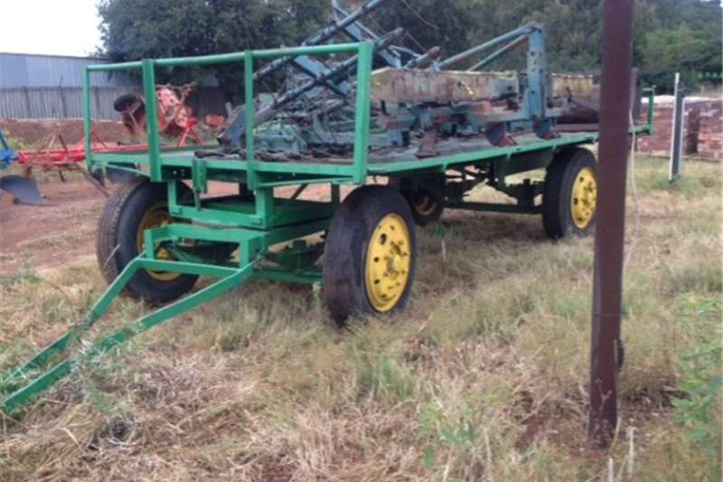 Other agricultural trailers S2993 Green U Make 4 Wheel 5 Ton Flatbed Trailer / Agricultural trailers