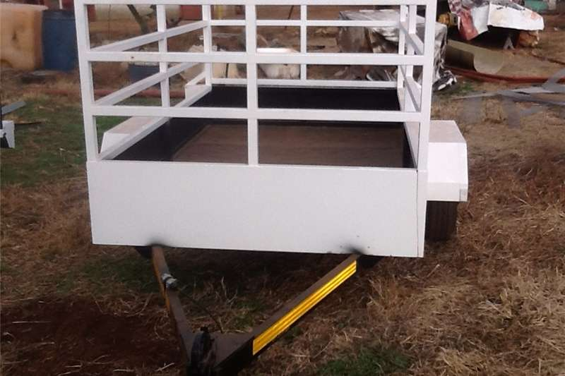Small trailers utility trailer with railings Agricultural trailers