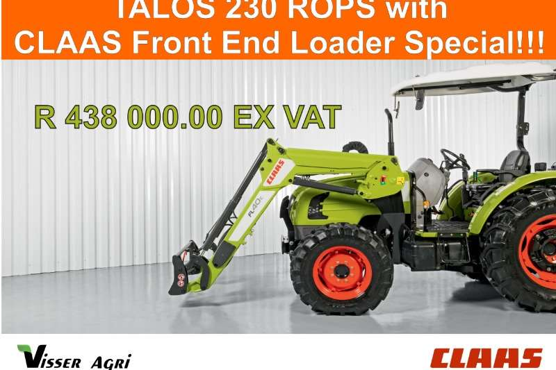 Claas Four wheel drive tractors Claas Talos 230 ROPS with Frond End Loader Tractors