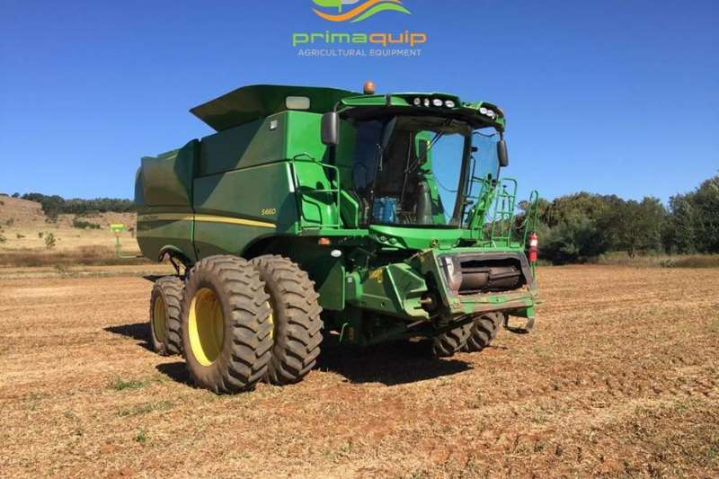 Combine Harvesters and Harvesting Equipment John Deere Grain Harvesters JD S 660 + JD 625 F + Vence 4650 2013