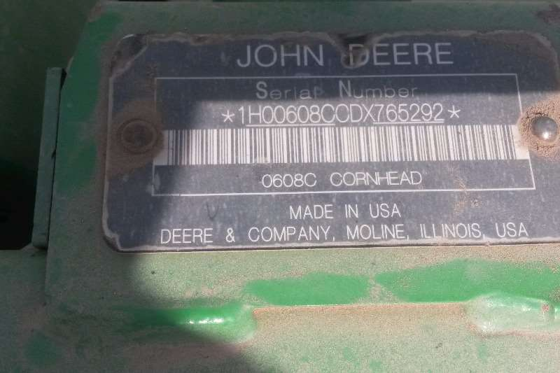 John Deere Maize heads JD 608C 8 ry, plukkerkop Combine harvesters and harvesting equipment