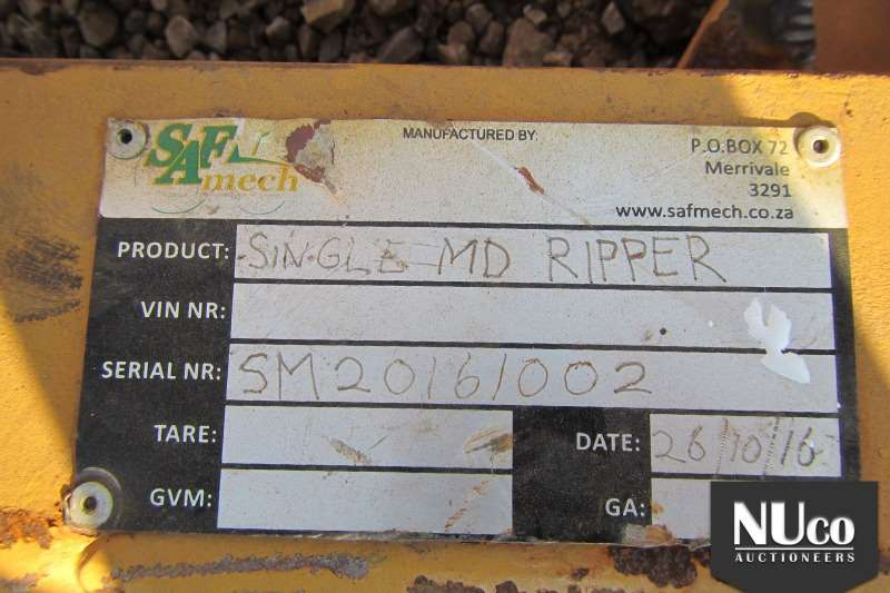 SAFMECH SINGLE MD RIPPER 2X AVAILABLE Cultivators