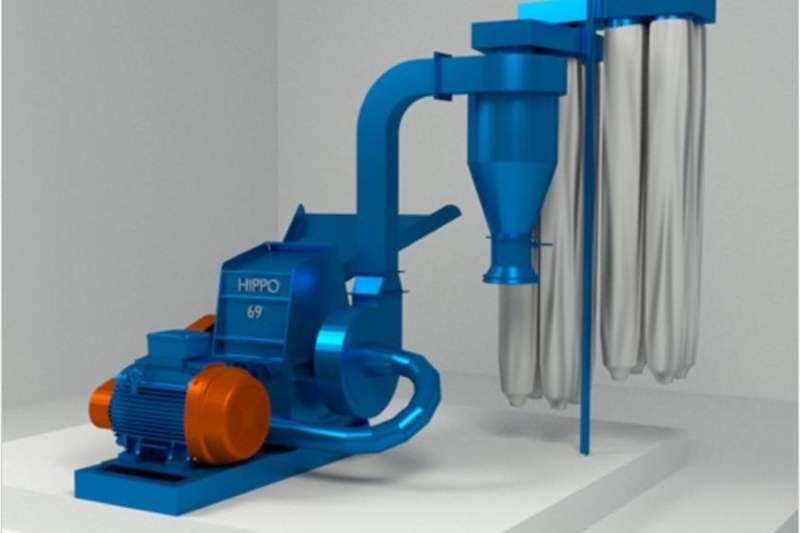 Electrical hammer mills S624 Blue Hippo Hippo 69 Hammermill 45kW Electric Hammer mills