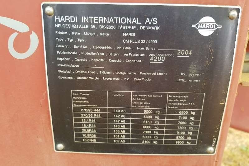 Hardi Air carrier sprayers Hardi Commander 4200L 24m Twin Force Kous balk. Sprayers and spraying equipment