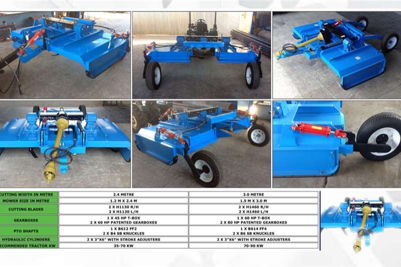 Mowers New slashers, blower & roller mowers, flail mowers Hay and forage