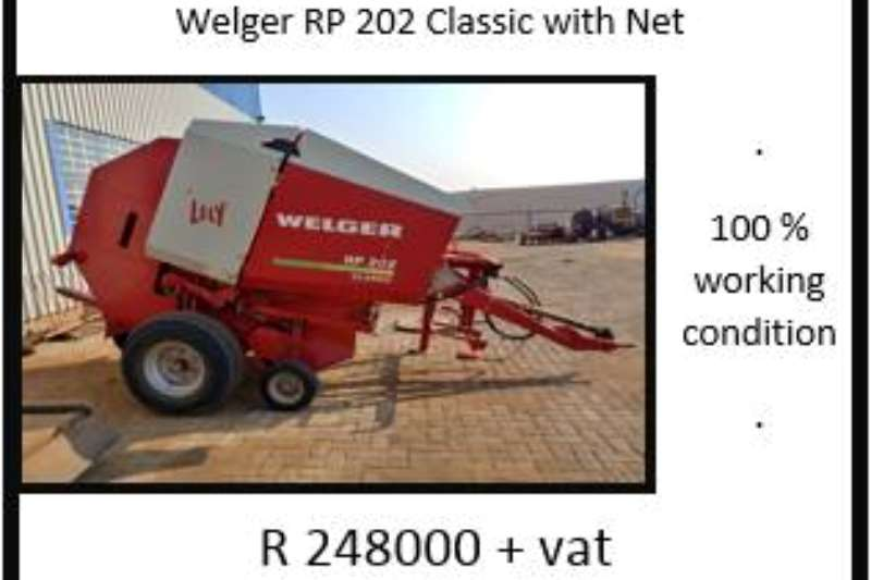 Hay and Forage Welger Balers Welger RP 202 Classic 0