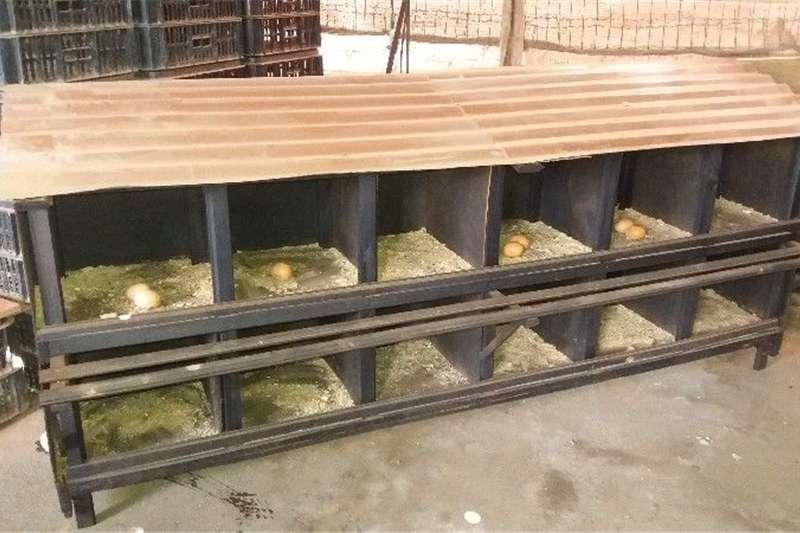 Livestock crushes and equipment FREE RANGE NESTING BOXES Livestock handling equipment