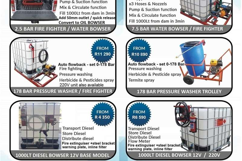 1000L Water Bowser / Fire Fighter / Bakkie Sakkie Machinery