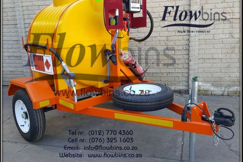 Machinery Farming Gauteng: NEW 600L Diesel Bowser Trailers 12V with