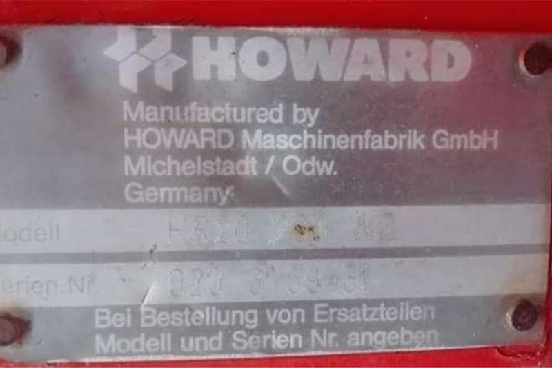 Howard 2m swaardiens Rotovator Other