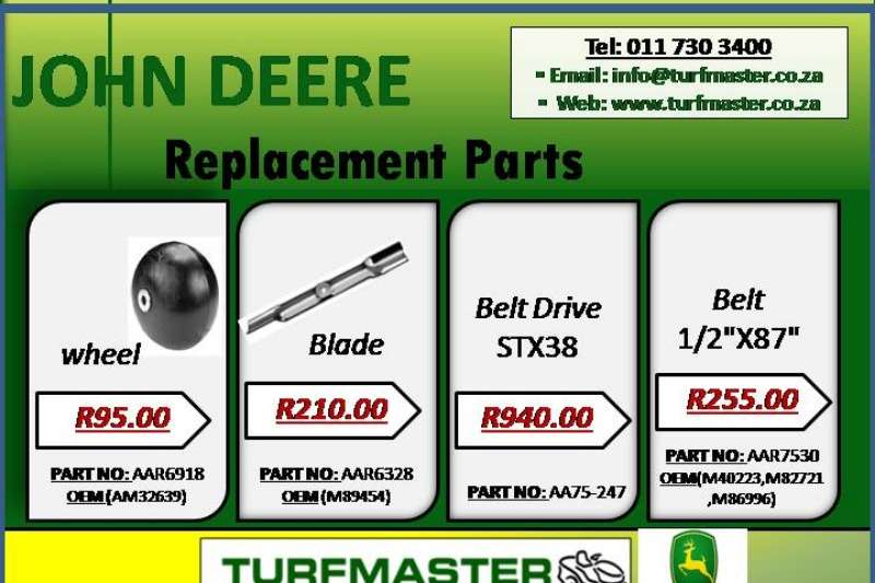 Other JOHN DEERE REPLACEMENT PARTS