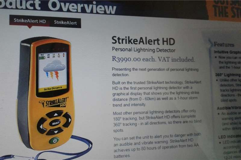 Strike Alert HD (personal lightning detector) Other