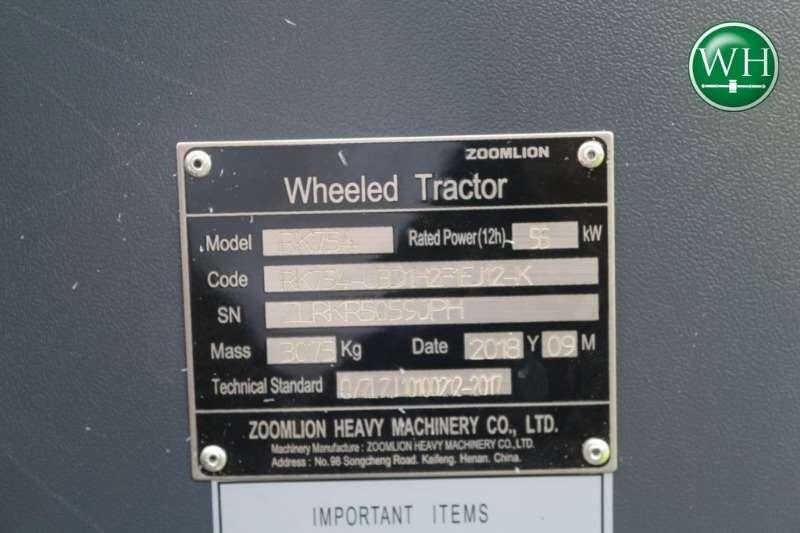 Other Zoomlion RK754 4x4 Tractors
