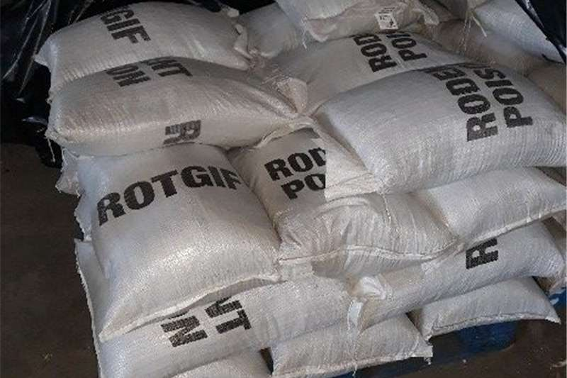 Chemicals Rougar Rodant Poison Seeds fertilisers and chemicals