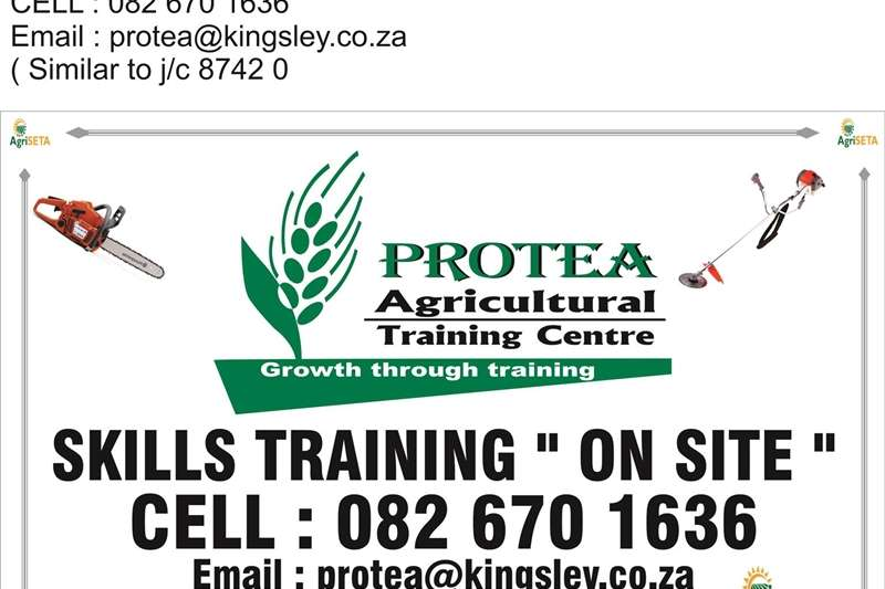 """Services Agricultural skills training courses:-""""On site"""" 2018"""