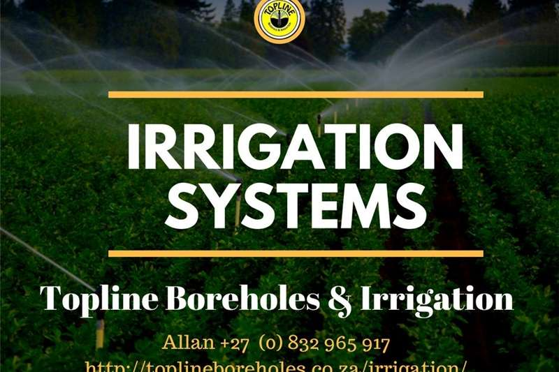 Other sprayers and spraying equipment Sprinkler systems installed by Topline Boreholes & Sprayers and spraying equipment