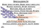 Submesrsible pump / dompel pompe American pump and drilling