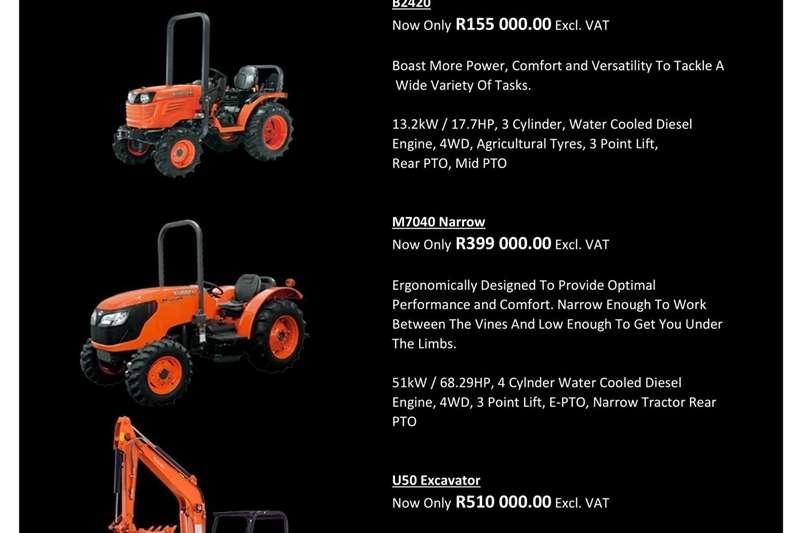 Tractors Four Wheel Drive Tractors Kubota Nampo Specials 2019