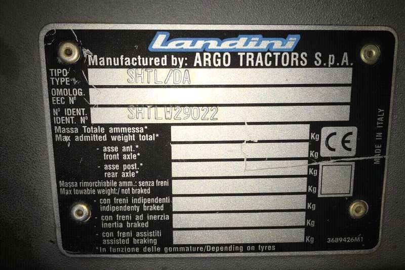 Four wheel drive tractors Landini LandPower 160 Tractors