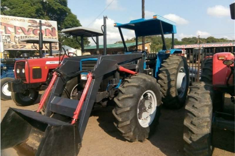 Four wheel drive tractors S2832 Blue Landini 8860 With Front Loader Laaigraa Tractors
