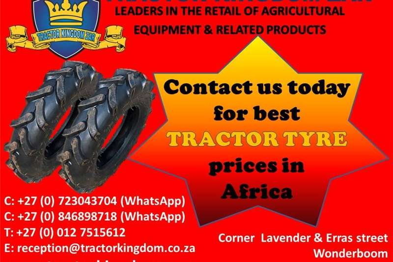 Tyres Contact us today for best TRACTOR TYRE  prices in