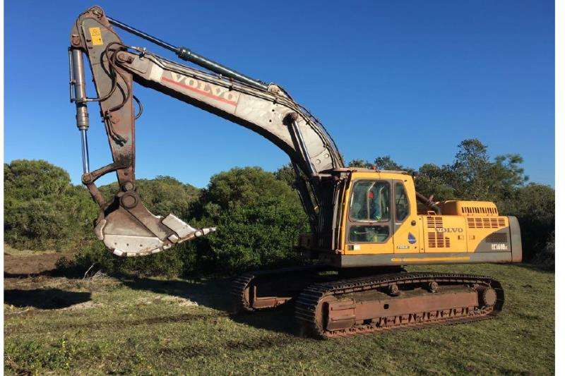 Excavators Volvo EC360B ME. In good working condition 2012