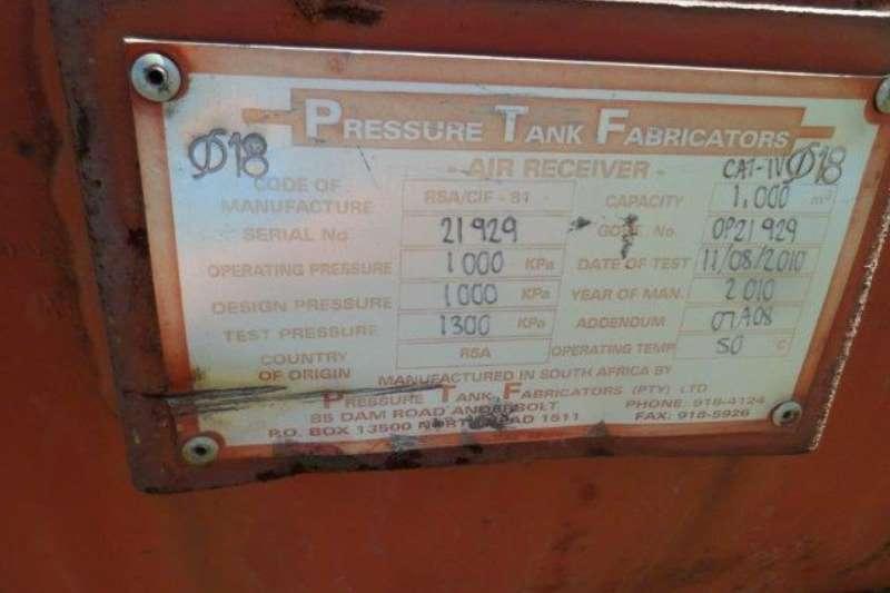 Other Pressure Tank Fabricators 1000 kPa, 1000 litre Pre Others