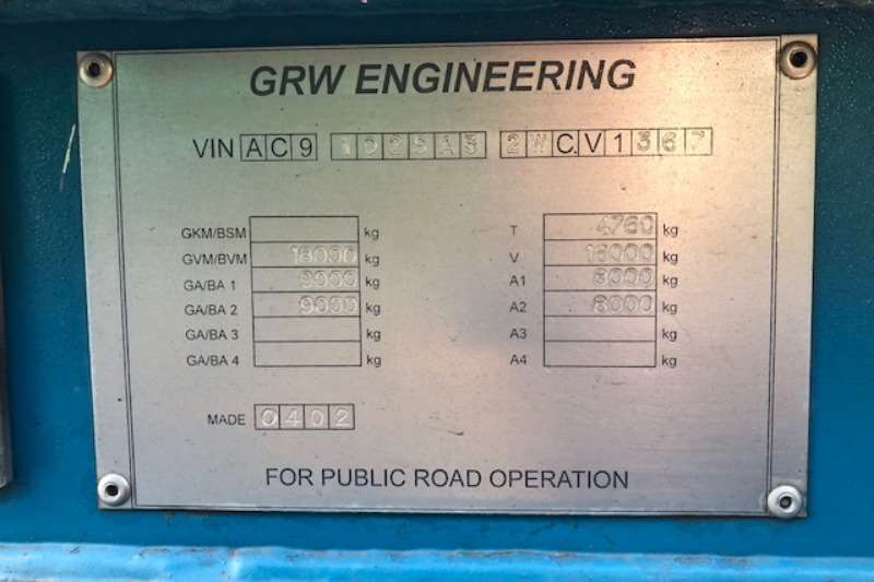 GRW 2002 2 axle Semi with 2003 Pup oil cladded tanker