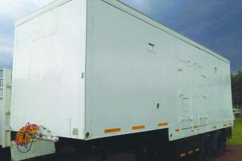 Ex Millitary Double Axle Insulated Trailer