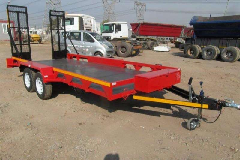 Car trailer Double Axle Car Trailer With Ramps 0